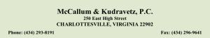 McCallum & Kudravetz, P.C.
